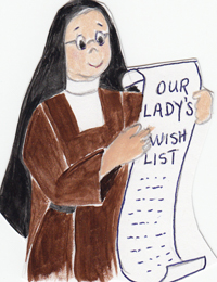 Our Lady's wish List