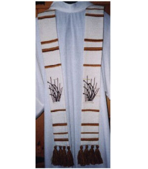 Handwoven Stole Blowing Wheat
